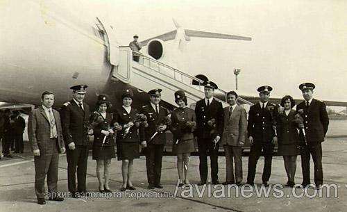 Ту 154 совершил первый регулярный рейс