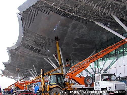 Строительство терминала d в аэропорту